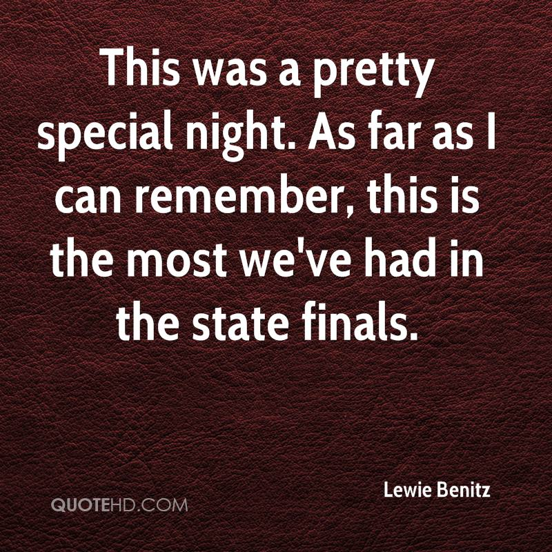 This was a pretty special night. As far as I can remember, this is the most we've had in the state finals.