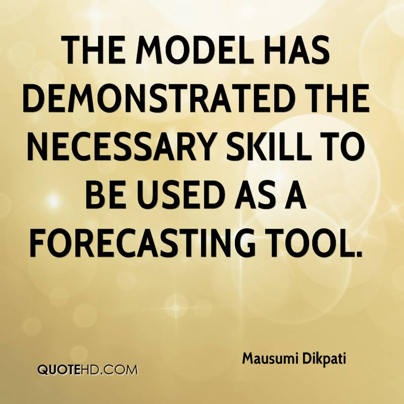 The model has demonstrated the necessary skill to be used as a forecasting tool.