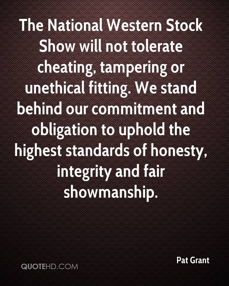 The National Western Stock Show will not tolerate cheating, tampering or unethical fitting. We stand behind our commitment and obligation to uphold the highest standards of honesty, integrity and fair showmanship.
