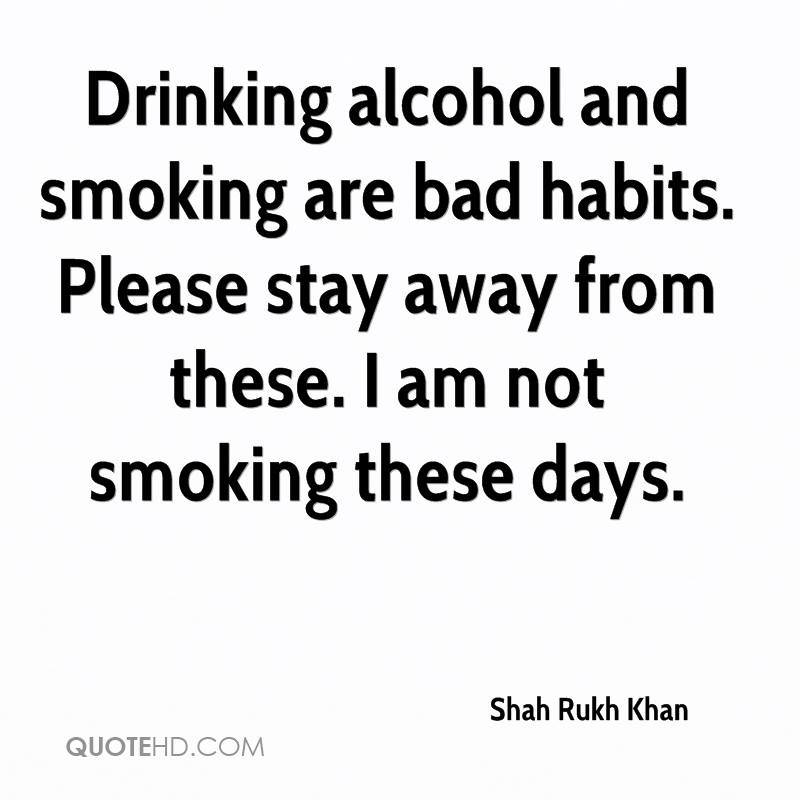 smoking is a bad habits Making the decision to quit smoking can become much  build healthy habits: replace smoking  an effective strategy to help kick bad habits like smoking is to.