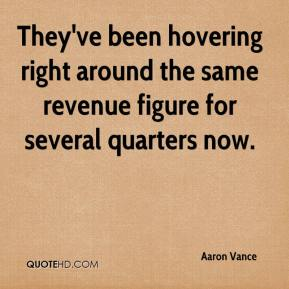 They've been hovering right around the same revenue figure for several quarters now.