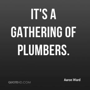 It's a gathering of plumbers.