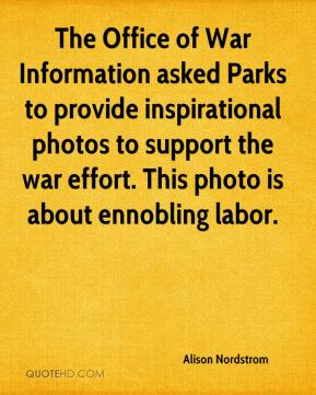 Alison Nordstrom - The Office of War Information asked Parks to provide inspirational photos to support the war effort. This photo is about ennobling labor.