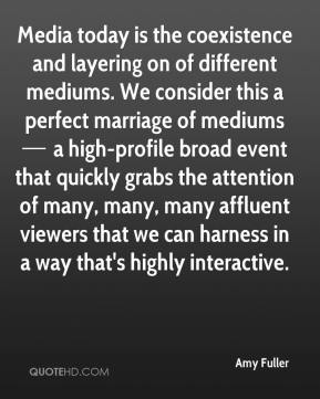 Media today is the coexistence and layering on of different mediums. We consider this a perfect marriage of mediums — a high-profile broad event that quickly grabs the attention of many, many, many affluent viewers that we can harness in a way that's highly interactive.