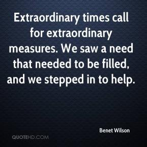 Extraordinary times call for extraordinary measures. We saw a need that needed to be filled, and we stepped in to help.