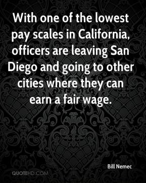 Bill Nemec - With one of the lowest pay scales in California, officers are leaving San Diego and going to other cities where they can earn a fair wage.