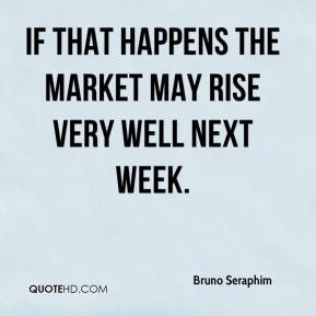 Bruno Seraphim - If that happens the market may rise very well next week.