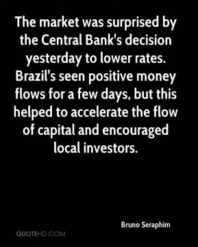 Bruno Seraphim - The market was surprised by the Central Bank's decision yesterday to lower rates. Brazil's seen positive money flows for a few days, but this helped to accelerate the flow of capital and encouraged local investors.