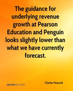 Charles Peacock - The guidance for underlying revenue growth at Pearson Education and Penguin looks slightly lower than what we have currently forecast.