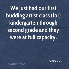 We just had our first budding artist class (for) kindergarten through second grade and they were at full capacity.