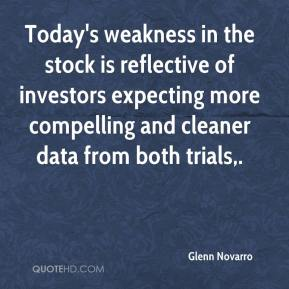 Today's weakness in the stock is reflective of investors expecting more compelling and cleaner data from both trials.