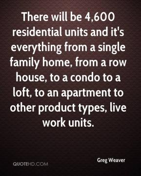 Greg Weaver - There will be 4,600 residential units and it's everything from a single family home, from a row house, to a condo to a loft, to an apartment to other product types, live work units.