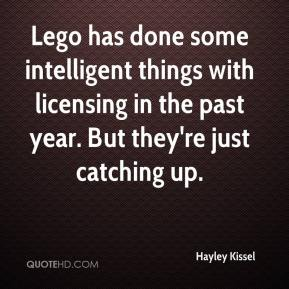 Hayley Kissel - Lego has done some intelligent things with licensing in the past year. But they're just catching up.