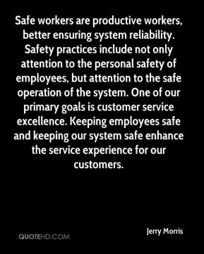 Safe workers are productive workers, better ensuring system reliability. Safety practices include not only attention to the personal safety of employees, but attention to the safe operation of the system. One of our primary goals is customer service excellence. Keeping employees safe and keeping our system safe enhance the service experience for our customers.