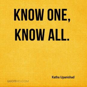 Know one, know all.
