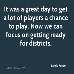It was a great day to get a lot of players a chance to play. Now we can focus on getting ready for districts.
