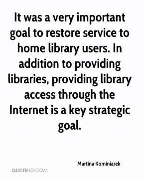 Martina Kominiarek  - It was a very important goal to restore service to home library users. In addition to providing libraries, providing library access through the Internet is a key strategic goal.