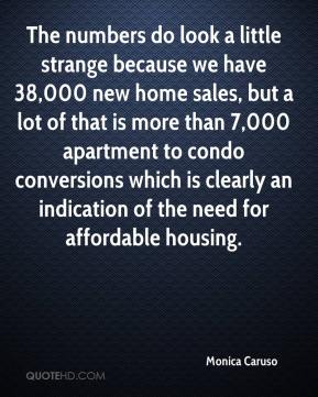 Monica Caruso  - The numbers do look a little strange because we have 38,000 new home sales, but a lot of that is more than 7,000 apartment to condo conversions which is clearly an indication of the need for affordable housing.
