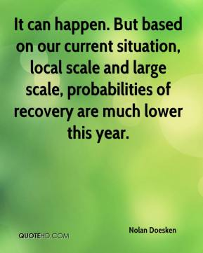 Nolan Doesken  - It can happen. But based on our current situation, local scale and large scale, probabilities of recovery are much lower this year.