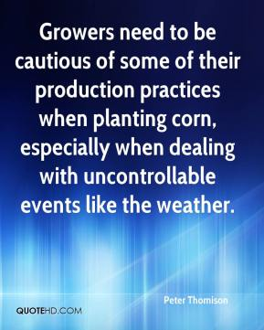 Peter Thomison  - Growers need to be cautious of some of their production practices when planting corn, especially when dealing with uncontrollable events like the weather.