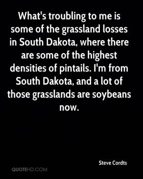 What's troubling to me is some of the grassland losses in South Dakota, where there are some of the highest densities of pintails. I'm from South Dakota, and a lot of those grasslands are soybeans now.