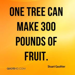 One tree can make 300 pounds of fruit.