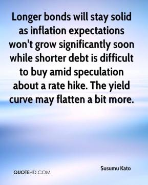 Susumu Kato  - Longer bonds will stay solid as inflation expectations won't grow significantly soon while shorter debt is difficult to buy amid speculation about a rate hike. The yield curve may flatten a bit more.