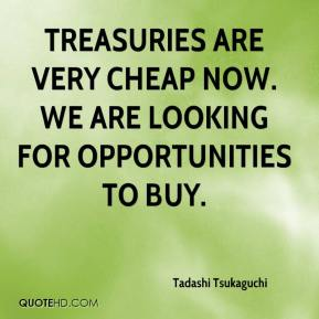 Tadashi Tsukaguchi  - Treasuries are very cheap now. We are looking for opportunities to buy.