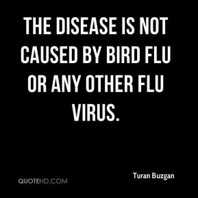 The disease is not caused by bird flu or any other flu virus.