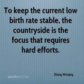 Zhang Weiqing  - To keep the current low birth rate stable, the countryside is the focus that requires hard efforts.