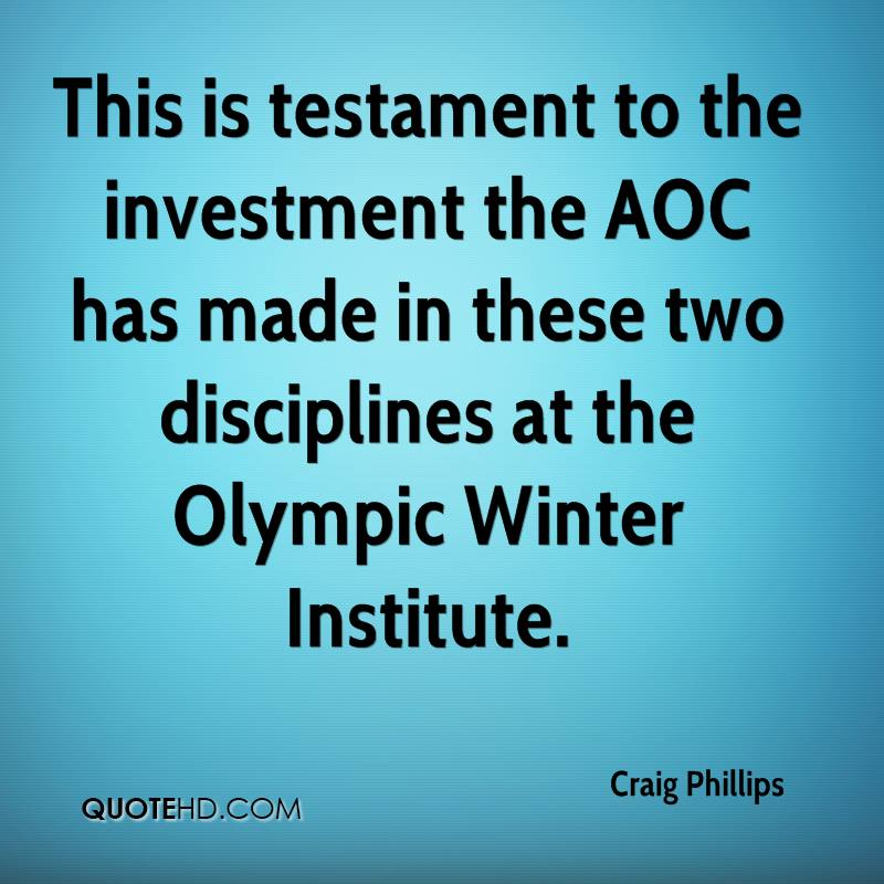 This is testament to the investment the AOC has made in these two disciplines at the Olympic Winter Institute.