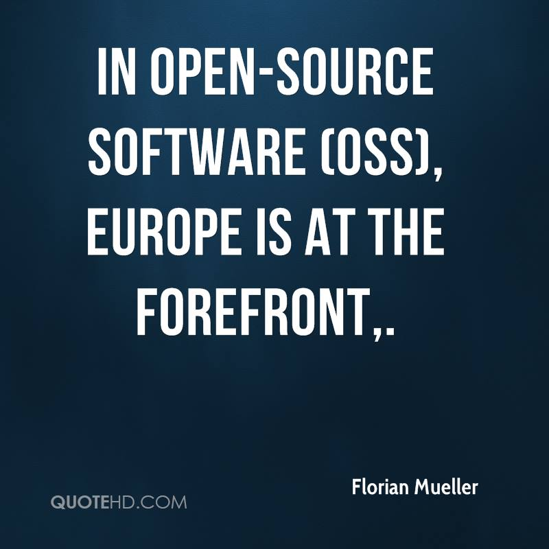 In open-source software (OSS), Europe is at the forefront.
