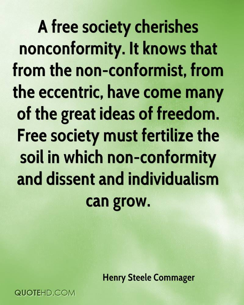 nonconformity to society as source of On the contrary, collectivistic cultures, such as african, asian and middle eastern  societies formulate a source of belonging and as a result,.