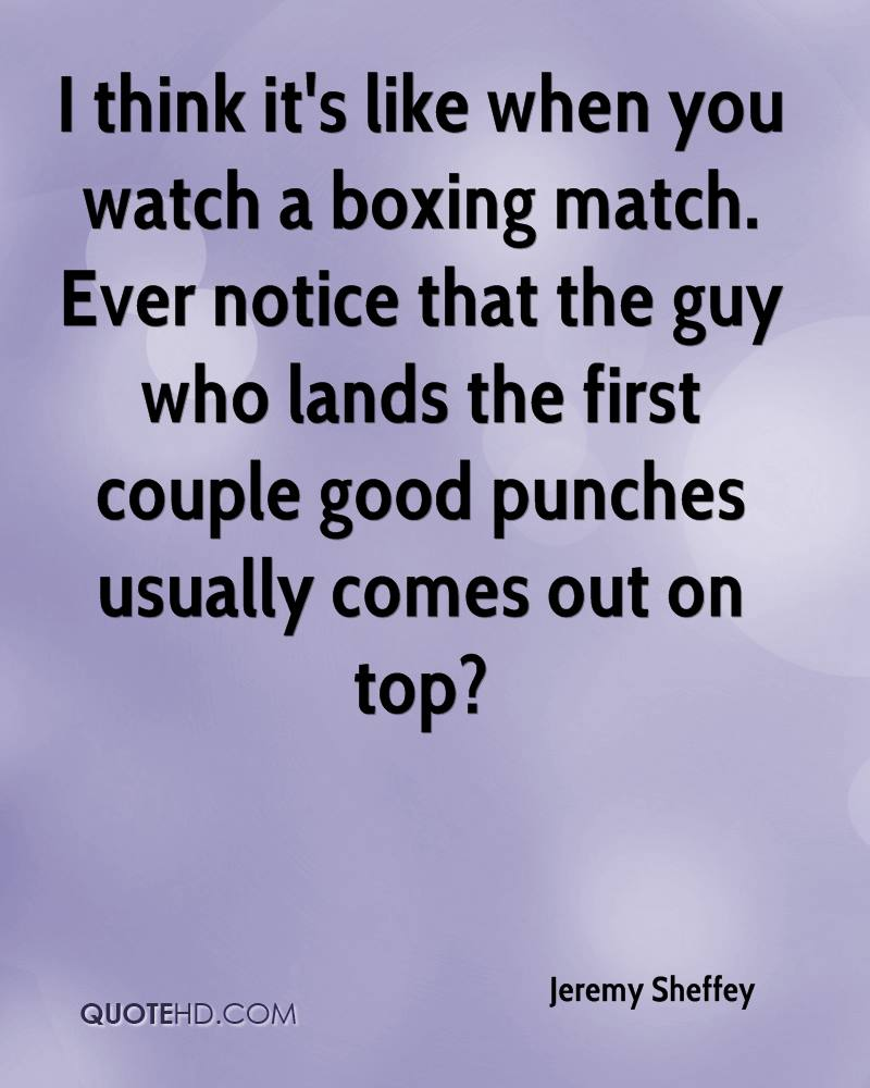 I think it's like when you watch a boxing match. Ever notice that the guy who lands the first couple good punches usually comes out on top?
