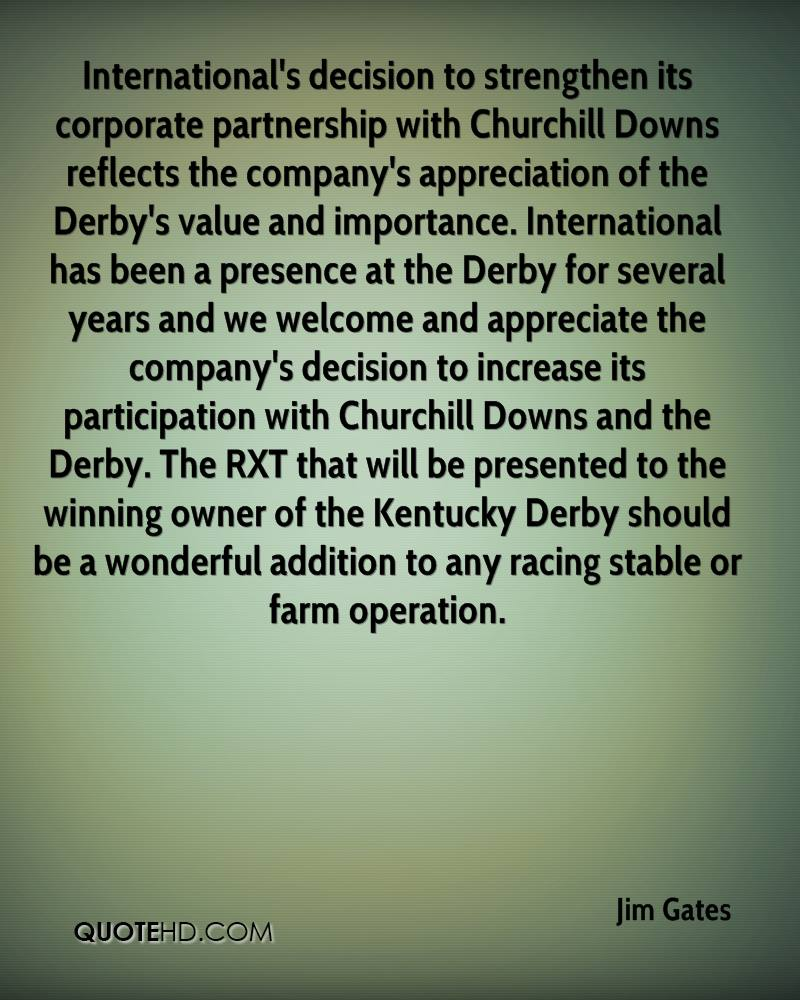 International's decision to strengthen its corporate partnership with Churchill Downs reflects the company's appreciation of the Derby's value and importance. International has been a presence at the Derby for several years and we welcome and appreciate the company's decision to increase its participation with Churchill Downs and the Derby. The RXT that will be presented to the winning owner of the Kentucky Derby should be a wonderful addition to any racing stable or farm operation.