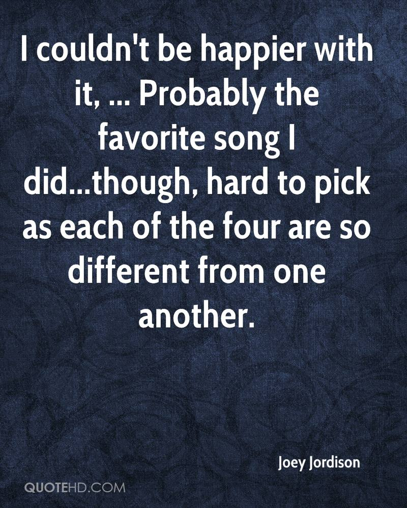 I couldn't be happier with it, ... Probably the favorite song I did...though, hard to pick as each of the four are so different from one another.