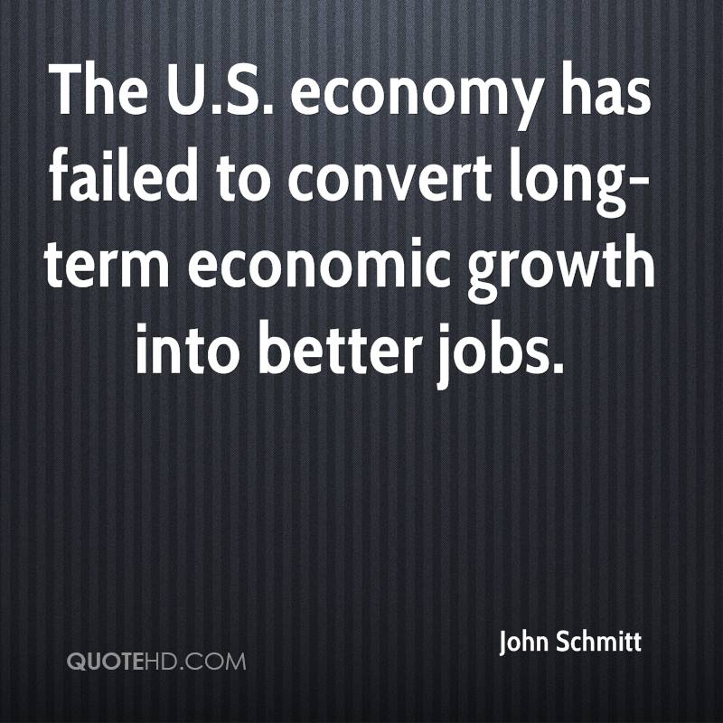 The U.S. economy has failed to convert long-term economic growth into better jobs.