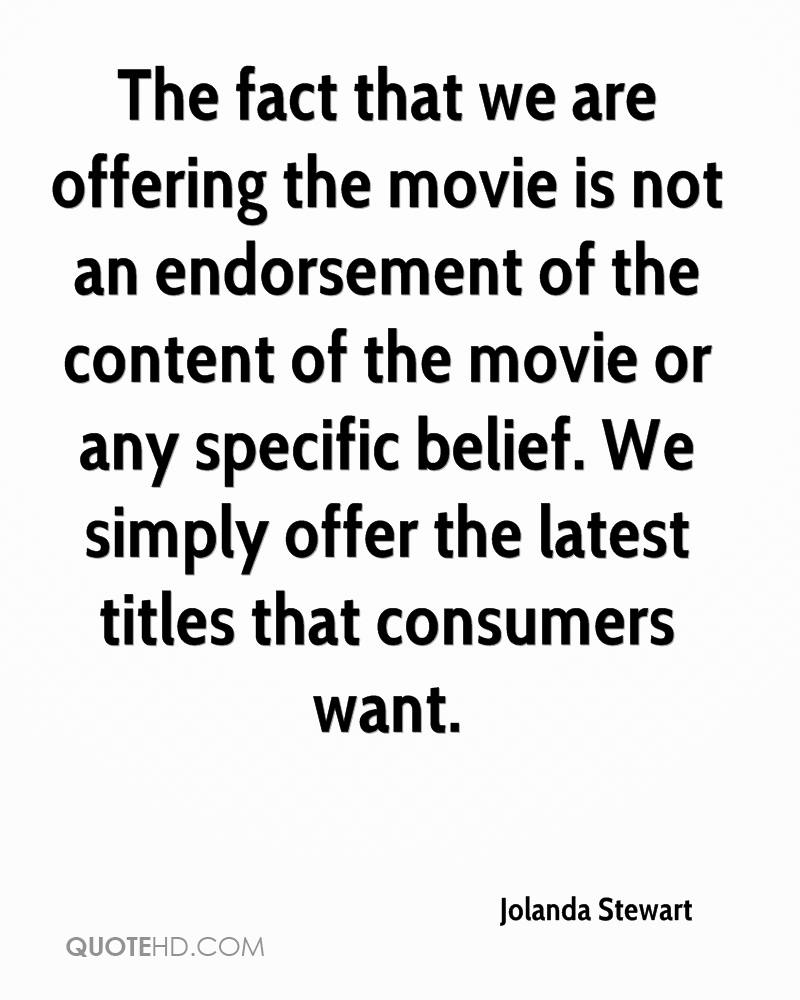 The fact that we are offering the movie is not an endorsement of the content of the movie or any specific belief. We simply offer the latest titles that consumers want.