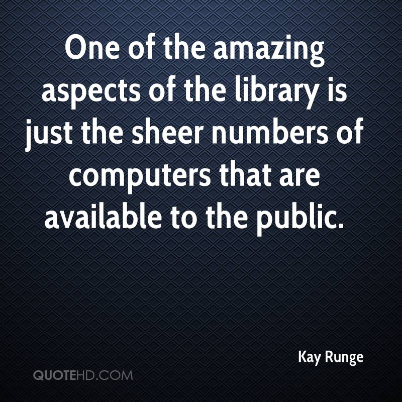 One of the amazing aspects of the library is just the sheer numbers of computers that are available to the public.