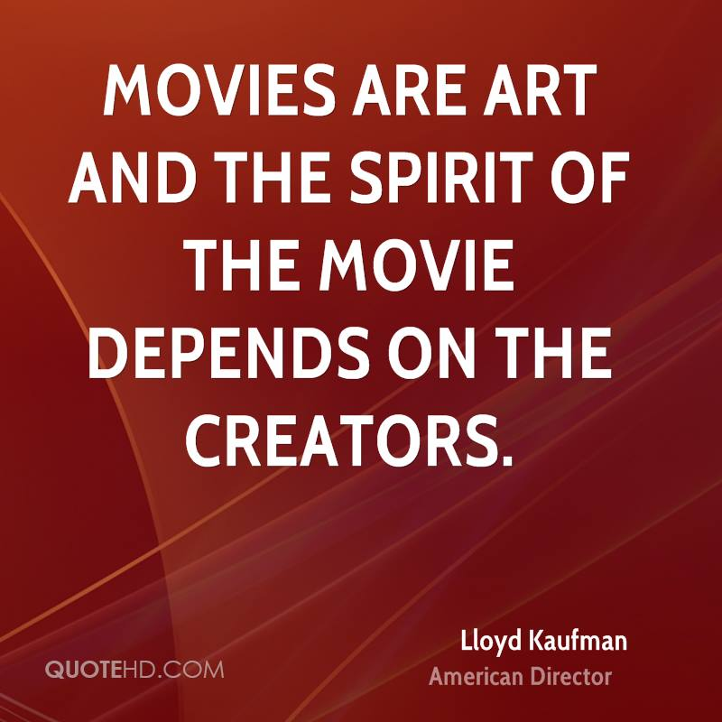 Movies are art and the spirit of the movie depends on the creators.