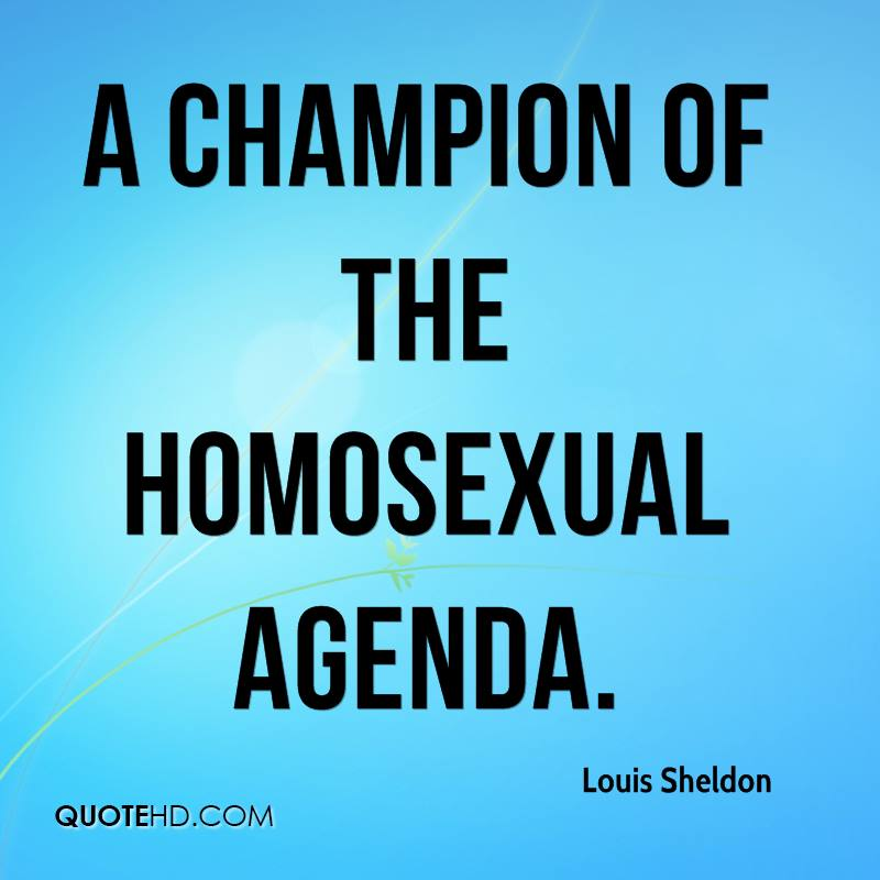 Homosexual agenda quotes