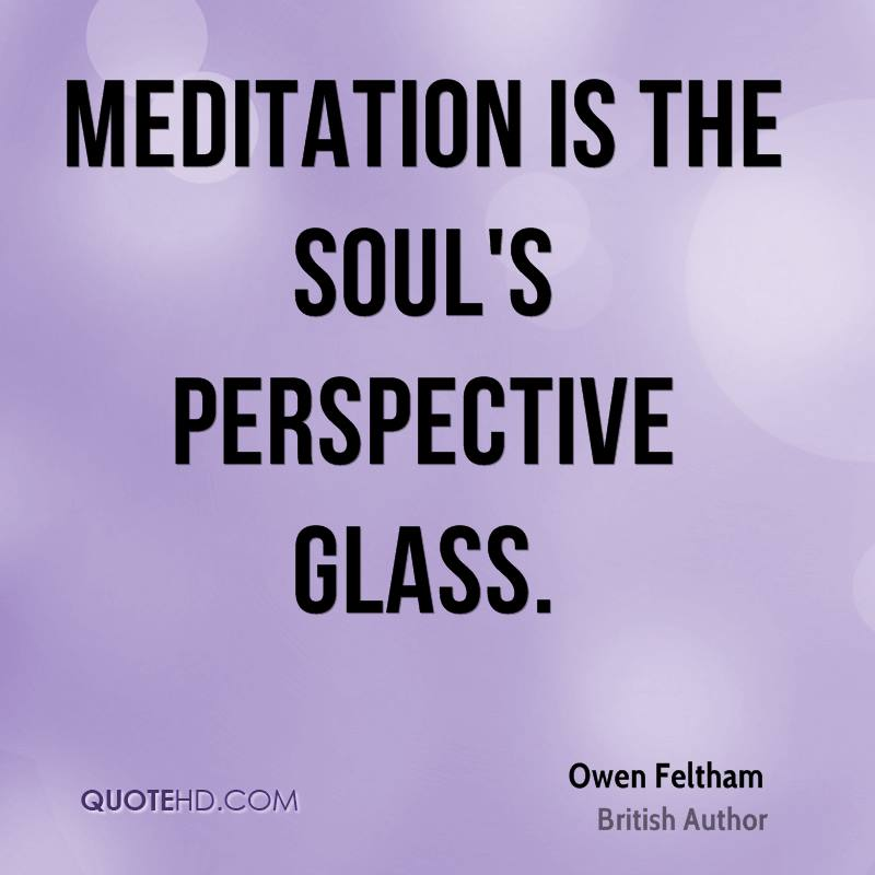 Meditation is the soul's perspective glass.