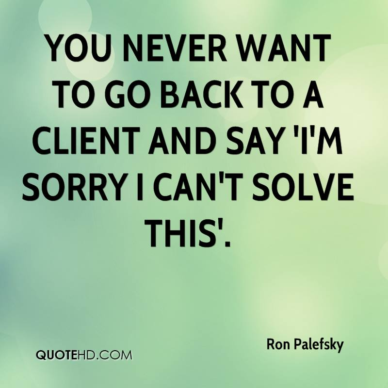 I Want You Back Quotes: Ron Palefsky Quotes
