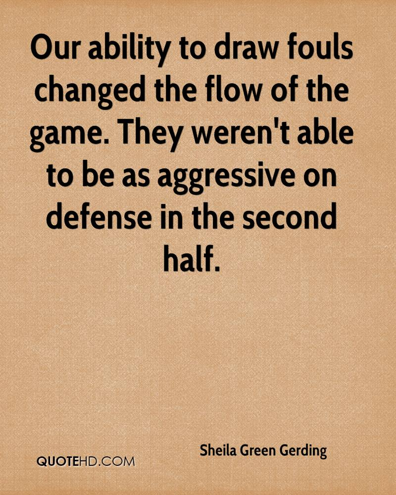 Our ability to draw fouls changed the flow of the game. They weren't able to be as aggressive on defense in the second half.