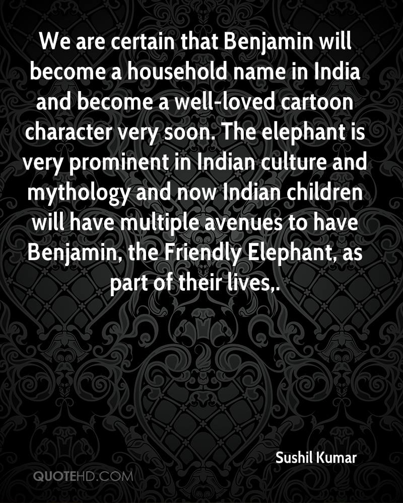 We are certain that Benjamin will become a household name in India and become a well-loved cartoon character very soon. The elephant is very prominent in Indian culture and mythology and now Indian children will have multiple avenues to have Benjamin, the Friendly Elephant, as part of their lives.