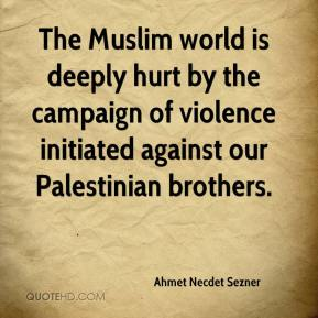 The Muslim world is deeply hurt by the campaign of violence initiated against our Palestinian brothers.