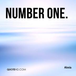 Alexia - Number One.