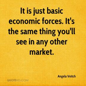 It is just basic economic forces. It's the same thing you'll see in any other market.