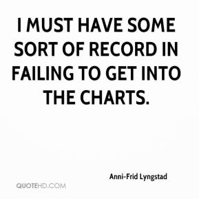 Anni-Frid Lyngstad - I must have some sort of record in failing to get into the charts.