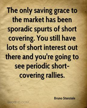 Bruno Stanziale - The only saving grace to the market has been sporadic spurts of short covering. You still have lots of short interest out there and you're going to see periodic short-covering rallies.